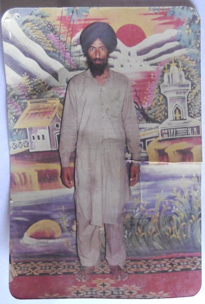 Photo of Amrik Singh, victim of extrajudicial execution between July 21, 1988 and July 22,  1988, in Valtoha, by Punjab Police