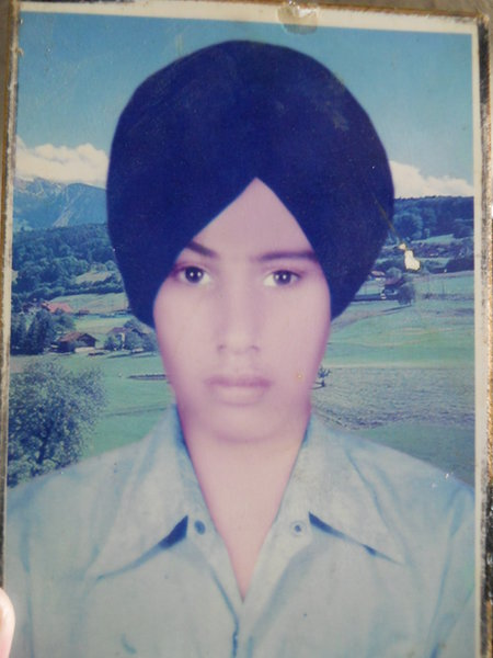 Photo of Hira Singh, victim of extrajudicial execution between November 25, 1992 and December 15,  1992, in Harike,  by Punjab Police; Central Reserve Police Force, in Harike, by Punjab Police