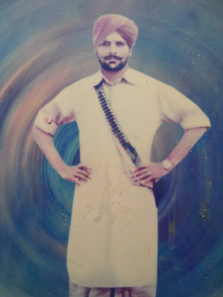 Photo of Mahinder Singh, victim of extrajudicial execution on March 03, 1989 by Border Security ForceBorder Security Force