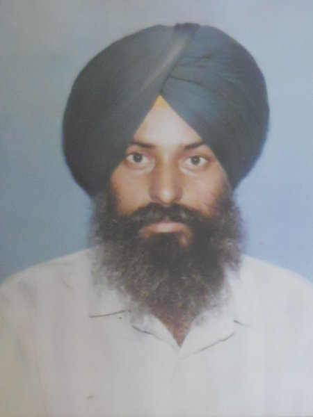 Photo of Jugraj Singh, victim of extrajudicial execution on March 02, 1991, in Baba Bakala, by Punjab Police