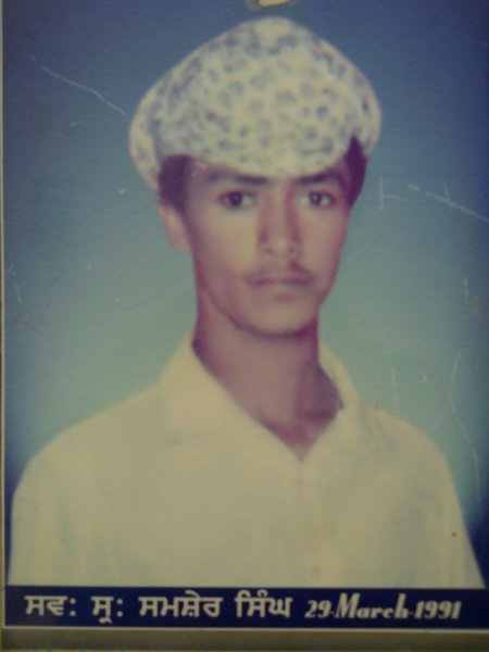 Photo of Shamsher Singh, victim of extrajudicial execution on March 29, 1992, in Tarn Taran, by Punjab Police; Central Reserve Police Force; Army