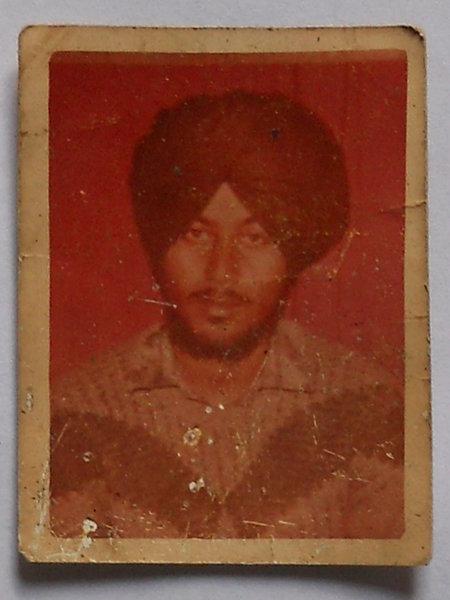 Photo of Gurmej Singh, victim of extrajudicial execution on April 22, 1990Punjab Police