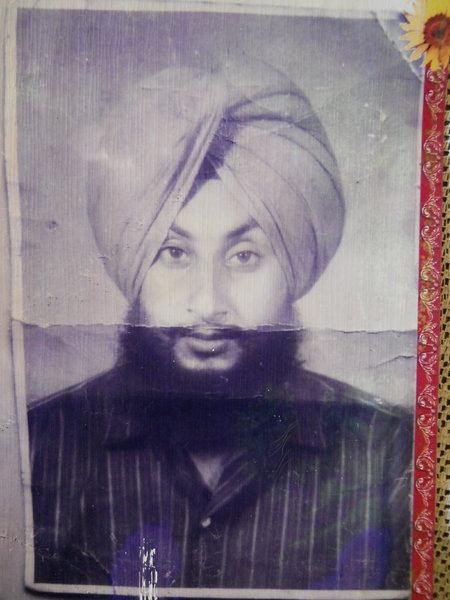Photo of Khajan Singh, victim of extrajudicial execution on November 07, 1992, in Bhikhiwind, by Punjab Police
