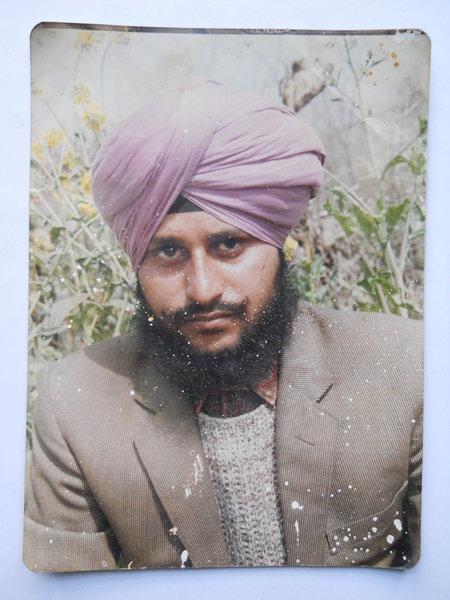 Photo of Balwinder Singh, victim of extrajudicial execution on March 18, 1993, in Tarn Taran, by Punjab Police