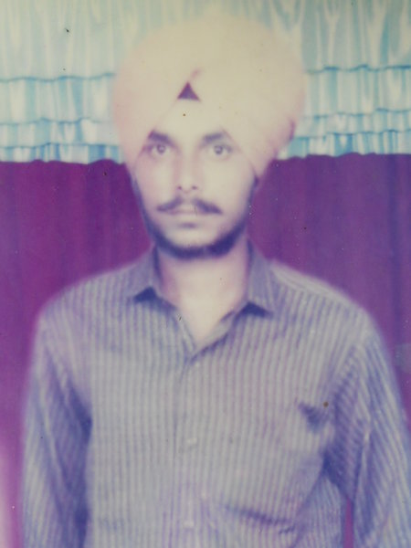 Photo of Sukhwinder Singh, victim of extrajudicial execution on December 18, 1991, in Goindwal,  by Punjab Police; Central Reserve Police Force, in Goindwal, by Punjab Police
