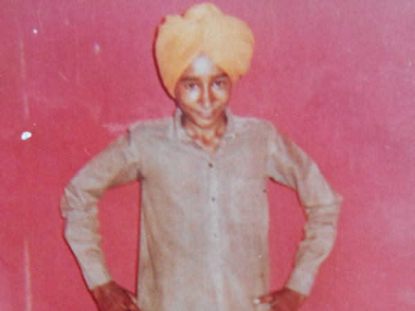 Photo of Karamjit Singh, victim of extrajudicial execution on November 27, 1992, in Jhabal Kalan, Tarn Taran, by Punjab Police