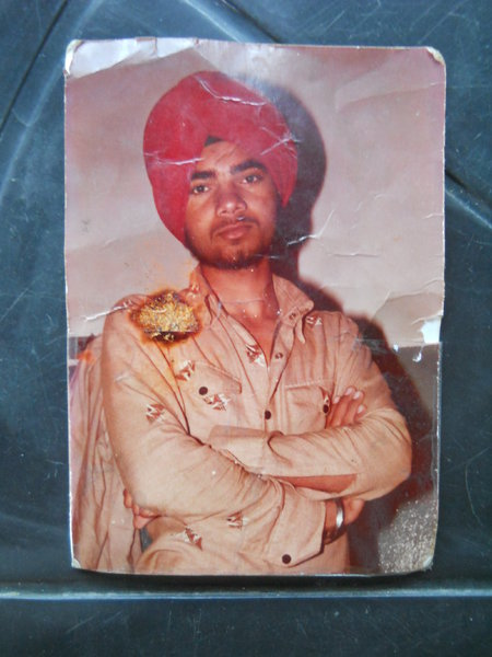 Photo of Sukhwinder Singh, victim of extrajudicial execution between June 5, 1993 and June 6,  1993, in Firozpur, by Punjab Police