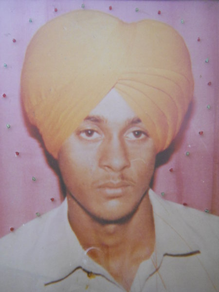 Photo of Gurpartap Singh, victim of extrajudicial execution between November 1, 1993 and December 31,  1993, in Handiaya, by Punjab Police