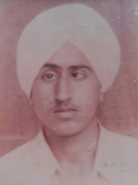 Photo of Baldev Singh, victim of extrajudicial execution on July 21, 1989, in Valtoha, by Punjab Police