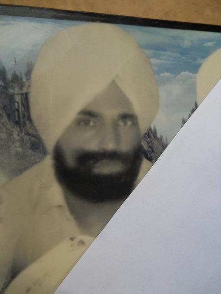 Photo of Mangal Singh, victim of extrajudicial execution on July 12, 1993, in Sarhali Kalan, by Punjab Police