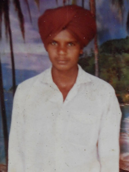 Photo of Lakhwinder Singh, victim of extrajudicial execution between September 30, 1993 and October 5,  1993, in Verowal, by Punjab Police