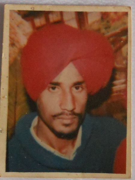 Photo of Sawinder Singh, victim of extrajudicial execution on April 10, 1993, in Khalchian, by Punjab Police