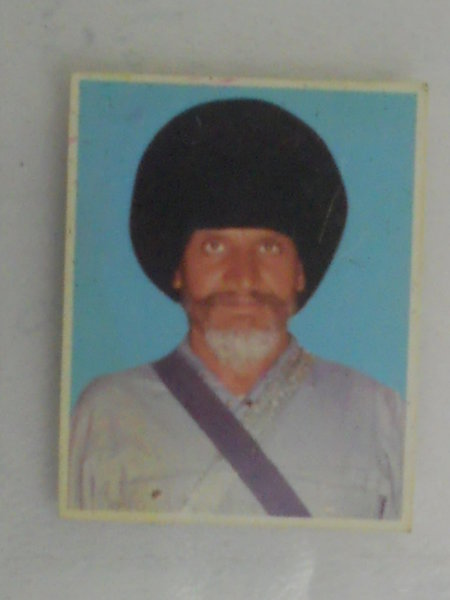 Photo of Bir Singh, victim of extrajudicial execution between September 5, 1993 and September 16,  1993, in Mehta, by Punjab Police