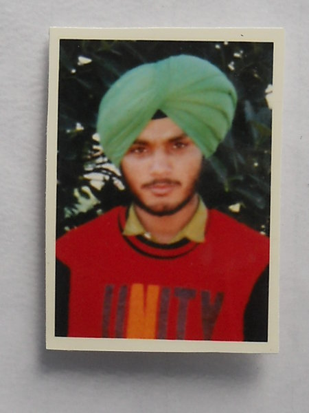 Photo of Sukhdev Singh, victim of extrajudicial execution on March 04, 1993, in Kathu Nangal, by Punjab Police