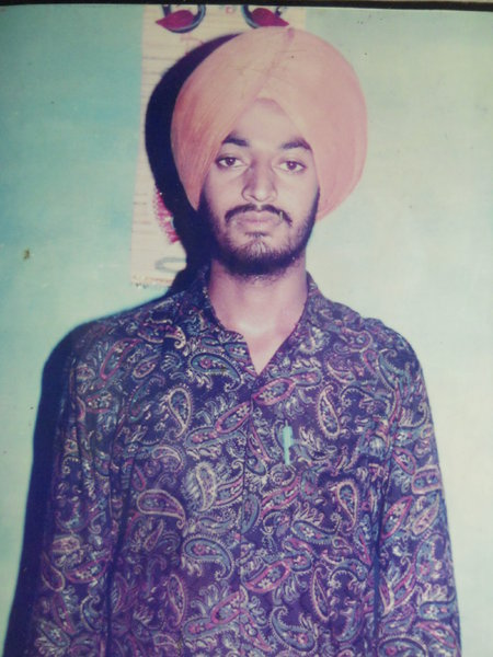 Photo of Amarjit Singh, victim of extrajudicial execution on October 25, 1991, in Beas, by Punjab Police