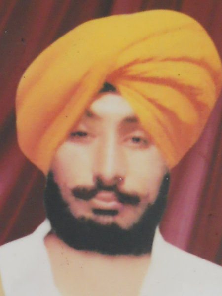 Photo of Satwinder Singh, victim of extrajudicial execution between December 1, 1990 and January 31,  1991 by Central Reserve Police ForceCentral Reserve Police Force