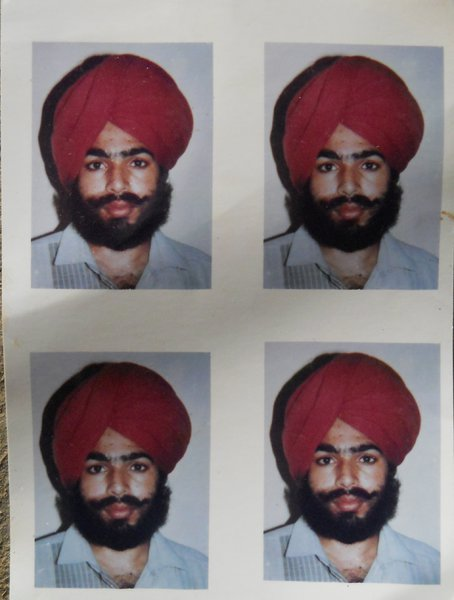 Photo of Ram Singh, victim of extrajudicial execution between February 21, 1991 and February 25,  1991, in Patti, by Punjab Police