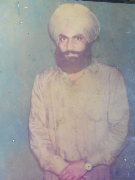 Photo of Kulwinder Singh, victim of extrajudicial execution on October 27, 1987Punjab Police