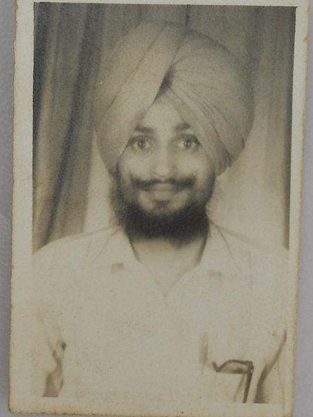 Photo of Sukhwant Singh, victim of extrajudicial execution on November 16, 1991, in Kotli Surat Malhi, Dera Baba Nanak, by Punjab Police
