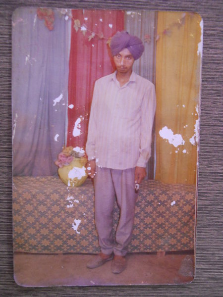 Photo of Tarsem Singh, victim of extrajudicial execution on October 06, 1991, in Bhikhiwind, by Punjab Police