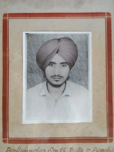 Photo of Balwinder Singh,  disappeared, in Tarn Taran,  by Punjab Police
