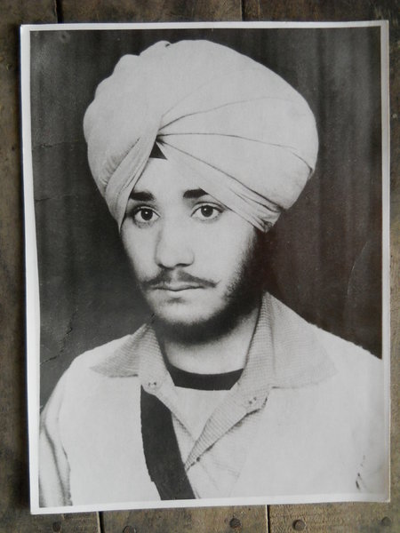Photo of Sahib Singh, victim of extrajudicial execution on December 21, 1986, in Khalra, by Punjab Police