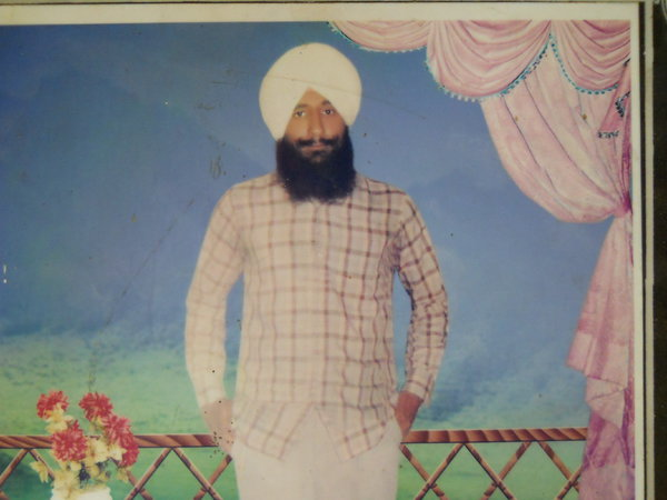 Photo of Parmjit Singh, victim of extrajudicial execution between June 24, 1991 and June 26,  1991, in Jhabal Kalan, by Punjab Police