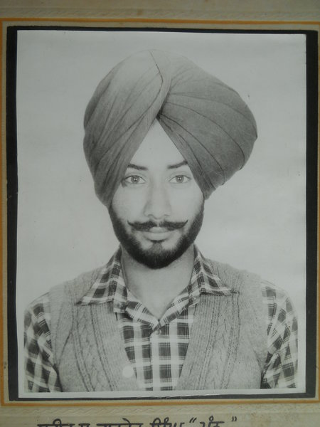 Photo of Gurdev Singh, victim of extrajudicial execution between August 14, 1989 and August 15,  1989, in Amritsar Mal Mandi Interrogation Center, by Punjab Police