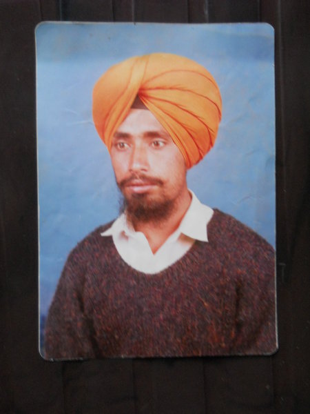 Photo of Pargat Singh, victim of extrajudicial execution on November 04, 1992, in Raja Sansi, by Punjab Police