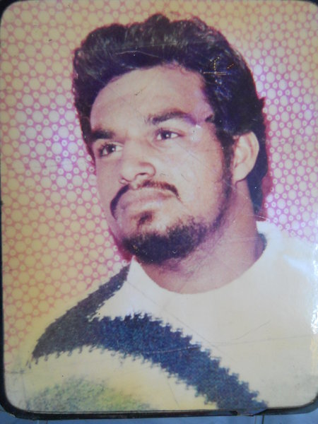 Photo of Parminder Singh, victim of extrajudicial execution on August 29, 1990, in Chheharta Sahib,  by Punjab Police; Central Reserve Police Force, in Amritsar, by Punjab Police