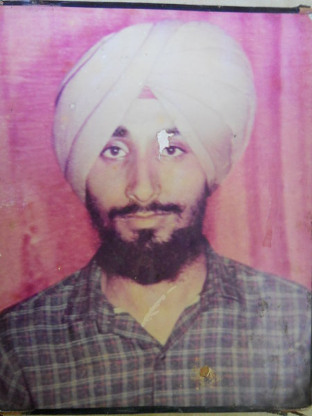 Photo of Sukhwinder Singh, victim of extrajudicial execution on July 07, 1991, in Amritsar, by Punjab Police