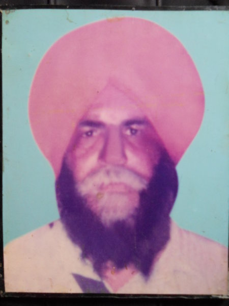 Photo of Harbans Singh, victim of extrajudicial execution between November 25, 1991 and November 26,  1991, in Patti, by Punjab Police