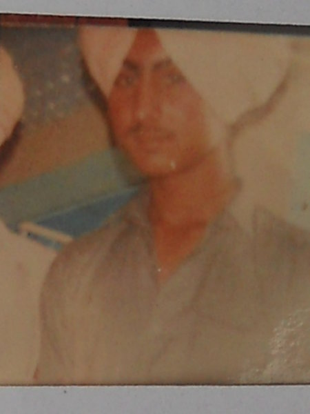 Photo of Surinderpal Singh, victim of extrajudicial execution between October 30, 1987 and November 30,  1987, in Tarn Taran, by Punjab Police
