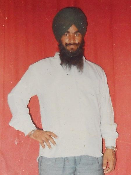 Photo of Kuldeep Singh, victim of extrajudicial execution on September 16, 1991, in Gurdaspur, by Punjab Police