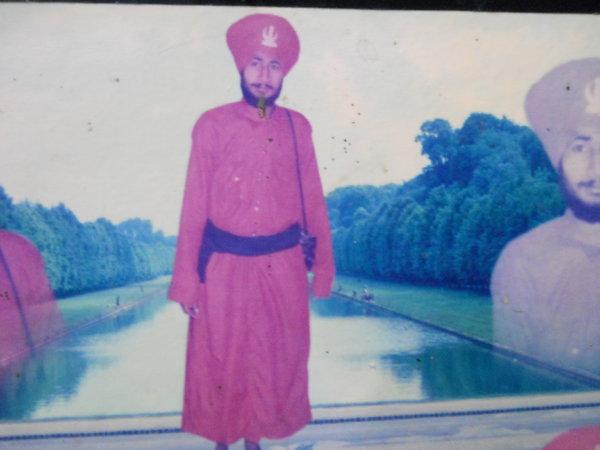 Photo of Bachittar Singh, victim of extrajudicial execution on May 25, 1991, in Urmar Tanda, by Punjab Police