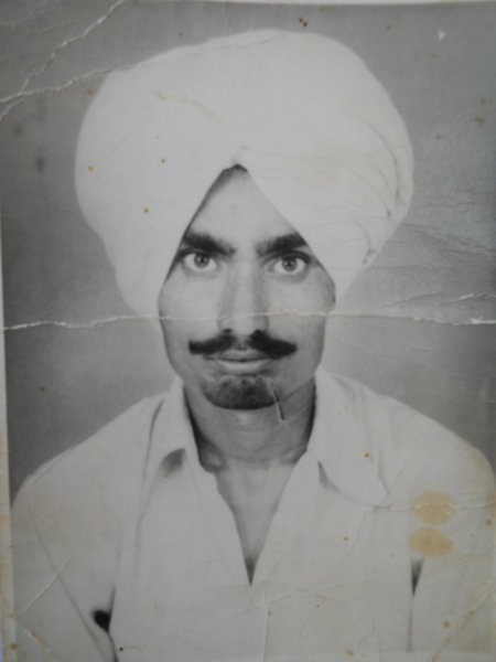 Photo of Jaswant Singh, victim of extrajudicial execution between August 24, 1990 and August 26,  1990, in Jhabal Kalan, by Punjab Police