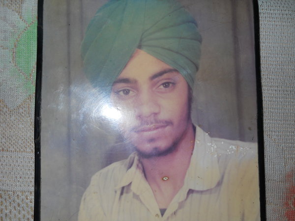 Photo of Sukwinder Singh, victim of extrajudicial execution on April 04, 1992, in Amritsar, by Punjab Police