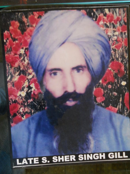 Photo of Sher Singh, victim of extrajudicial execution on November 21, 1991, in Basarke, by Black cat