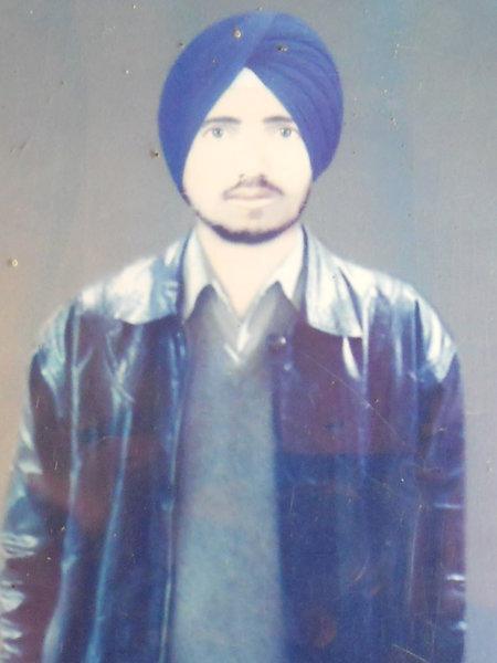 Photo of Swaran Singh, victim of extrajudicial execution on July 11, 1989, in Bhikhiwind, Khalra, by Punjab Police