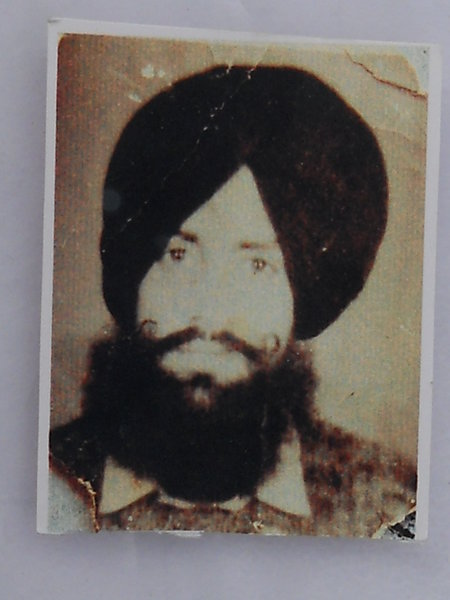 Photo of Kewal Singh, victim of extrajudicial execution on October 05, 1991, in Bhikhiwind, by Punjab Police