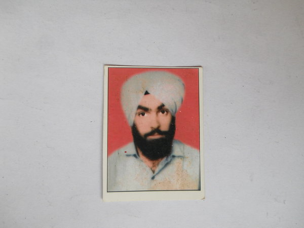 Photo of Jaswant Singh, victim of extrajudicial execution between April 18, 1990 and April 19,  1990, in Chheharta Sahib, by Punjab Police