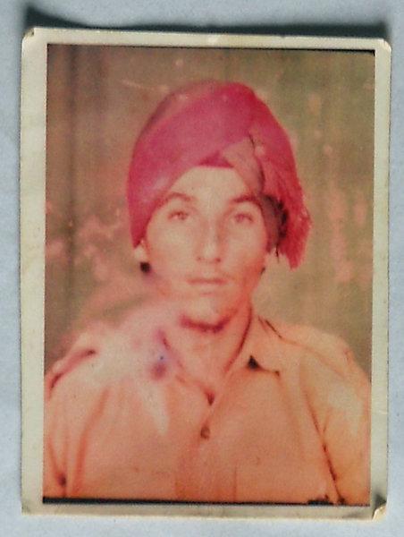 Photo of Ajaib Singh, victim of extrajudicial execution between December 11, 1992 and December 16,  1992, in Tarn Taran, by Punjab Police
