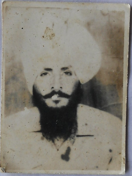 Photo of Amrik Singh, victim of extrajudicial execution between July 11, 1989 and July 12,  1989, in Valtoha, Bhikhiwind,  by Punjab Police; Central Reserve Police Force, in Bhikhiwind, by Punjab Police