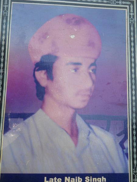 Photo of Naib Singh, victim of extrajudicial execution between December 19, 1992 and December 21,  1993, in Tarn Taran CIA Staff, by Punjab Police
