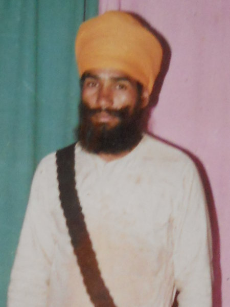 Photo of Hardev Singh, victim of extrajudicial execution on October 13, 1991, in Mehta, by Punjab Police
