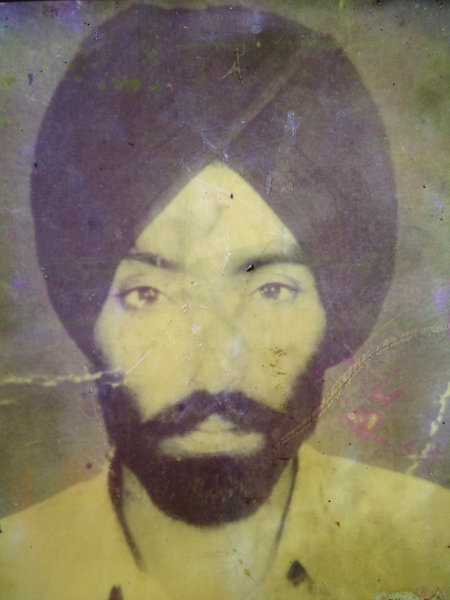 Photo of Harbhajan Singh, victim of extrajudicial execution on August 30, 1986, in Dera Baba Nanak,  by Border Security Force, in Dera Baba Nanak, by Border Security Force