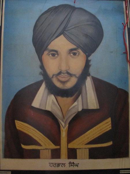 Photo of Harpal Singh, victim of extrajudicial execution on July 22, 1987, in Batala, Dhariwal, by Punjab Police