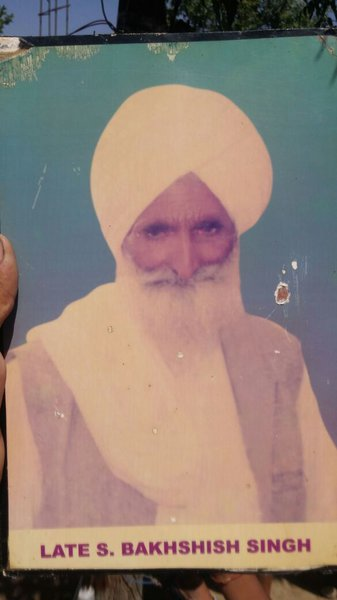 Photo of Bakhshish Singh, victim of extrajudicial execution between September 15, 1994 and September 20,  1994, in Mehta, Uchoke Kalan,  by Punjab Police; Central Reserve Police ForcePunjab Police