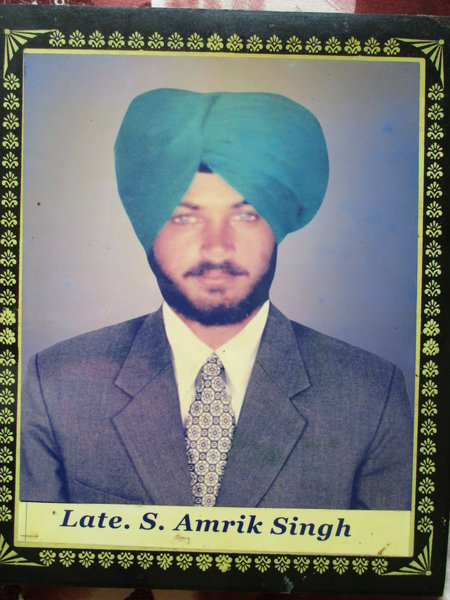 Photo of Amrik Singh, victim of extrajudicial execution on May 04, 1993, in Dhilwan, by Punjab Police
