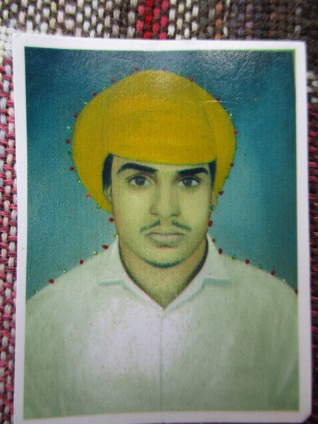 Photo of Manjit Singh, victim of extrajudicial execution on August 26, 1989, in 90th Battalion CRPF Camp, Firozpur, by Punjab Police; Central Reserve Police Force